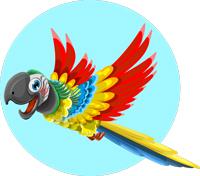 fliegender Ara Illu